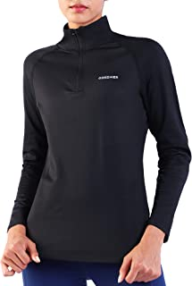 Women's 1/4 Zip Pullover Fleece Long Sleeve Running Athletic Shirt Thermal Workout Yoga Tops