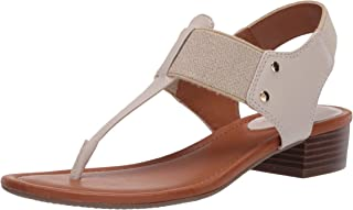 صندل نسائي بكعب من Bandolino Footwear ، العظم، 8. 5