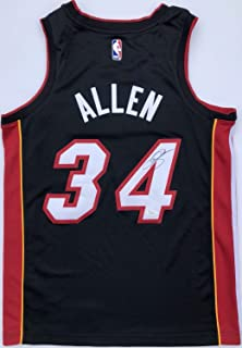 Ray Allen #34 Miami Heat Autographed Signed Memorabilia Basketball Jersey With JSA Boston Celtics Hof
