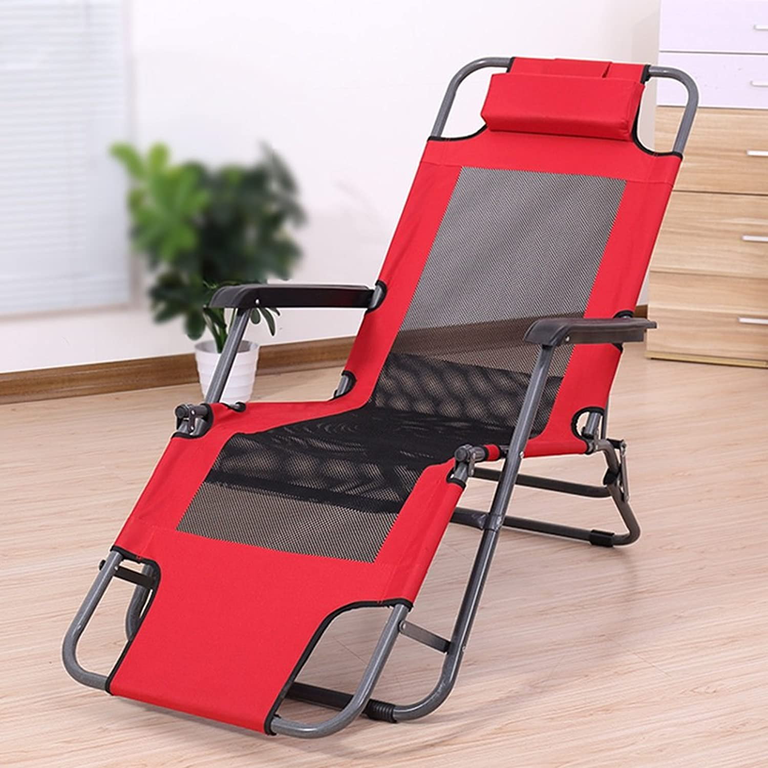Lounge Chair Recliners Summer Recliners Balcony Folding Chair Office Lunch Break Beach Lazy Chair Portable Armchair Flat Laying Folding Bed