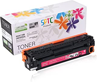 SPTC Replacement for HP 125A CB543A Toner Cartridge Compatible with CRG-116 CP1215 CP1210 CP1515N CP1518NI CM1312nfi CM1300 CM1312 MFP HP Color Laserjet Magenta 1,400 Pages High Yield