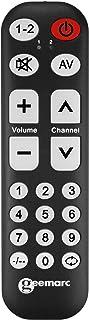 Geemarc TV 10   lernfähige Universalfernbedienung mit großer Schrift und Tasten für bis zu Zwei Geräte