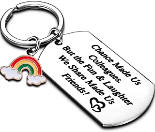 Thank You Gift Keychain Retirement Gifts for Women Friend Gifts Work Leaving Gifts for Colleagues New Job Good Luck Gift
