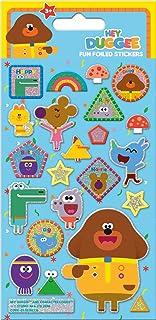 Paper Projects 01.70.06.138 Hey Duggee Sparkly naklejki wielokrotnego użytku, różne kolory, 19,5 cm x 10 cm