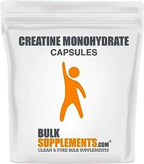 BulkSupplements.com Creatine Monohydrate (Micronized) - Creatine Pills - Bodybuilding Supplements (300 Gelatin Capsules)