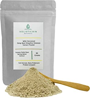 Wild Harvested Dong Quai Root Powder Extract (Angelica Sinensis) by Holistic Bin - Fall Harvest - 80 Grams