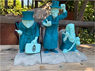 Disney Parks Haunted Mansion 50th Anniversary Hitchhiking Ghost Popcorn Bucket Sipper Dessert Tray Set of 3 ~Light Up Musical~