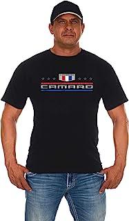 JH DESIGN GROUP Men's Chevy Camaro T-Shirt Stars & Bars Crew Neck Shirt 2 Colors