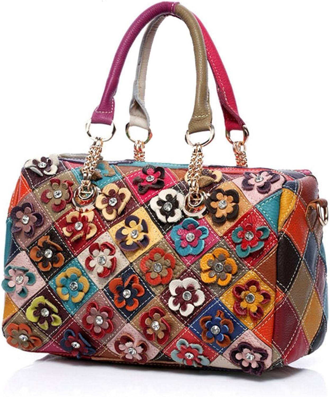Women's Shoulder Bags Real Leather Totes Top Handle Bags Cross Body Bag Satchel Handbag