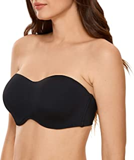 Women's Seamless Underwire Bandeau Minimizer Strapless Bra for Large Bust