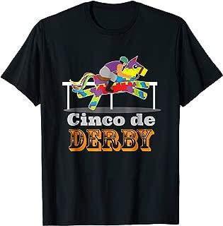 Cinco de Derby T-Shirt Pinata Horse Jockey Race Party Tee