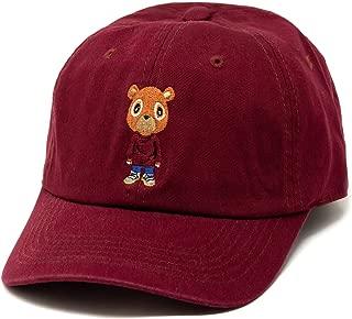 Kanye Graduation Bear Dad Hat in Twilled Cotton (Burgundy)