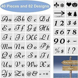 Best uppercase letter stencils Reviews