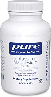 Pure Encapsulations - Potassium Magnesium (Citrate) - Hypoallergenic Supplement to Support Heart, Muscular, and Nerve Health* - 180 Capsules