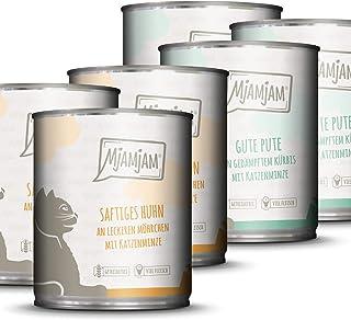 MjAMjAM - Pienso acuoso para Gatos – MONOPROTEICO Pack I 3* Pollo, 3* Pavo con Calabaza - Sin Cereales - 6 x 800 g