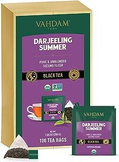 VAHDAM, Darjeeling Black Tea Bags 100 Count - AROMATIC & DELICIOUS Darjeeling Tea Bags | Breakfast Tea | Black Tea Bags Fa...