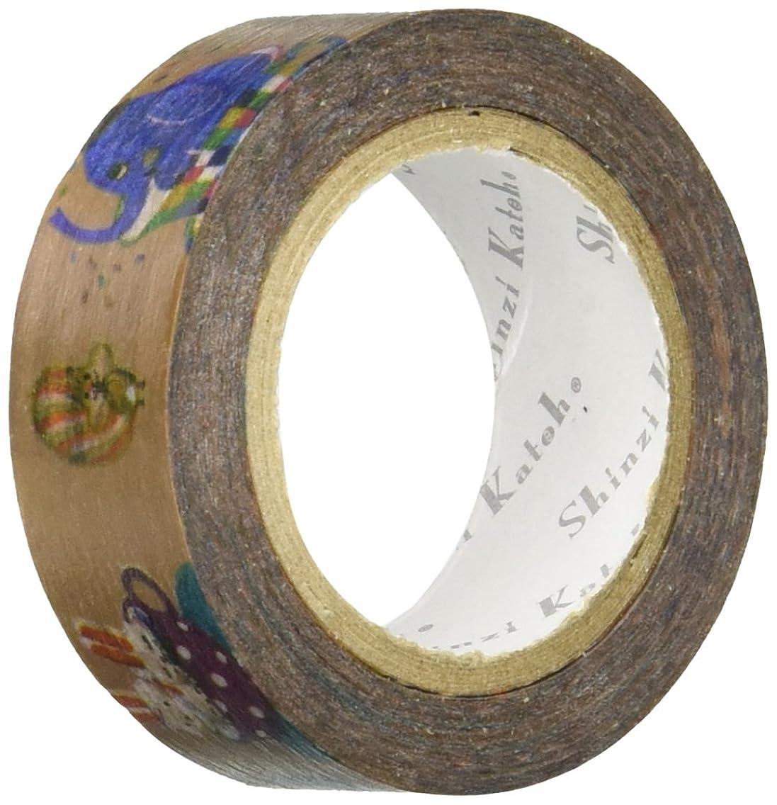 SEAL-DO Washi Masking Tape, Masking Plus Paris Lanthanum, Funny Animals, 15mm x 10m (ks-mt-10116)