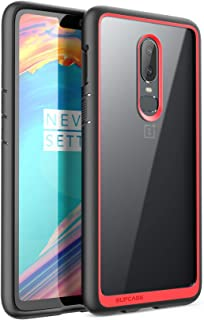 SUPCASE Unicorn Beetle Style Series Case for OnePlus 6, Premium Hybrid Protective Clear Case for OnePlus 6 2018 Release, Retail Package (Red)
