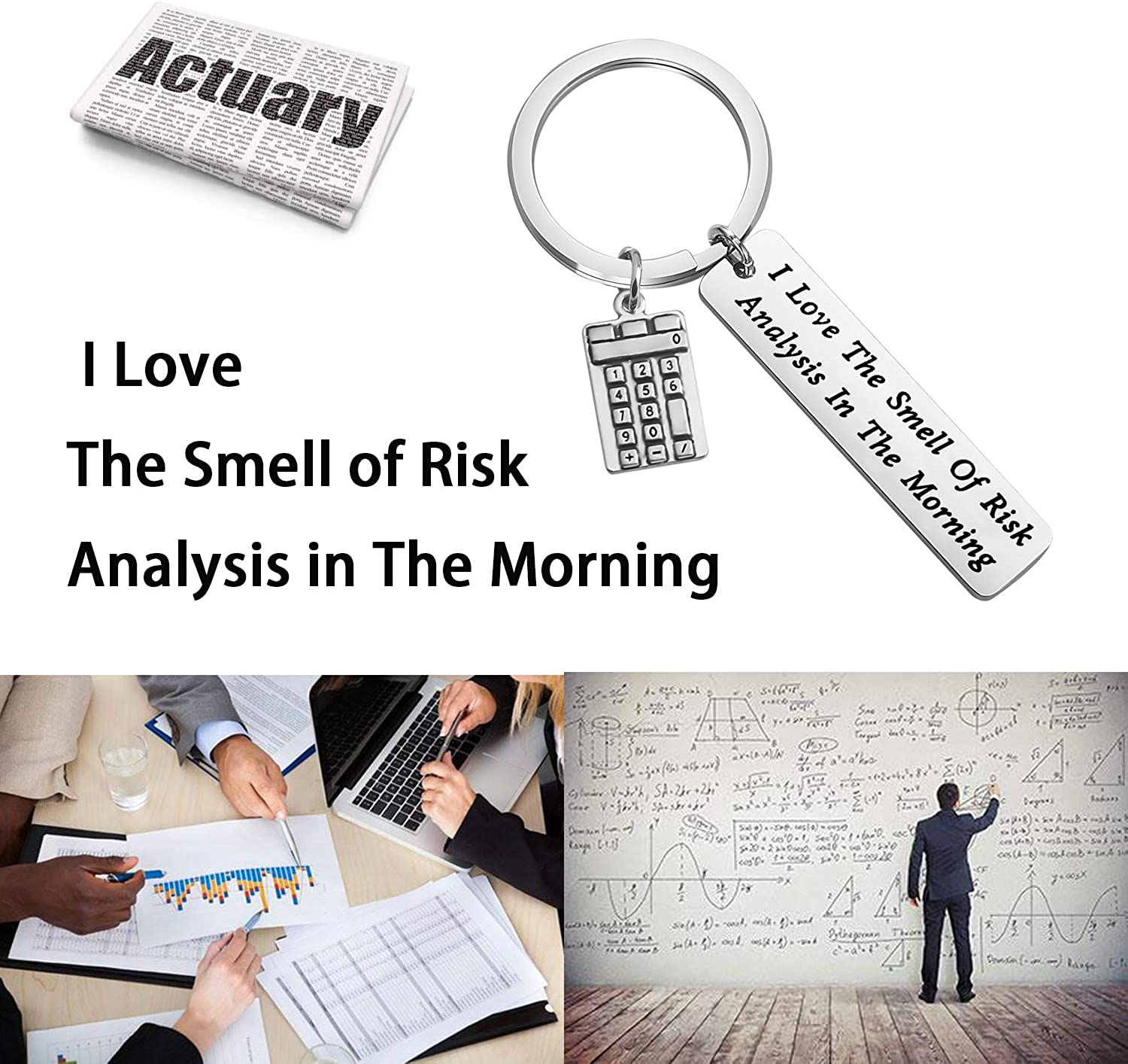 MAOFAED Actuary Gift Accountant/Gift Statistician Gift Consultants Gift Insurance Agent Gift I Love The Smell of Risk Analysis in The Morning