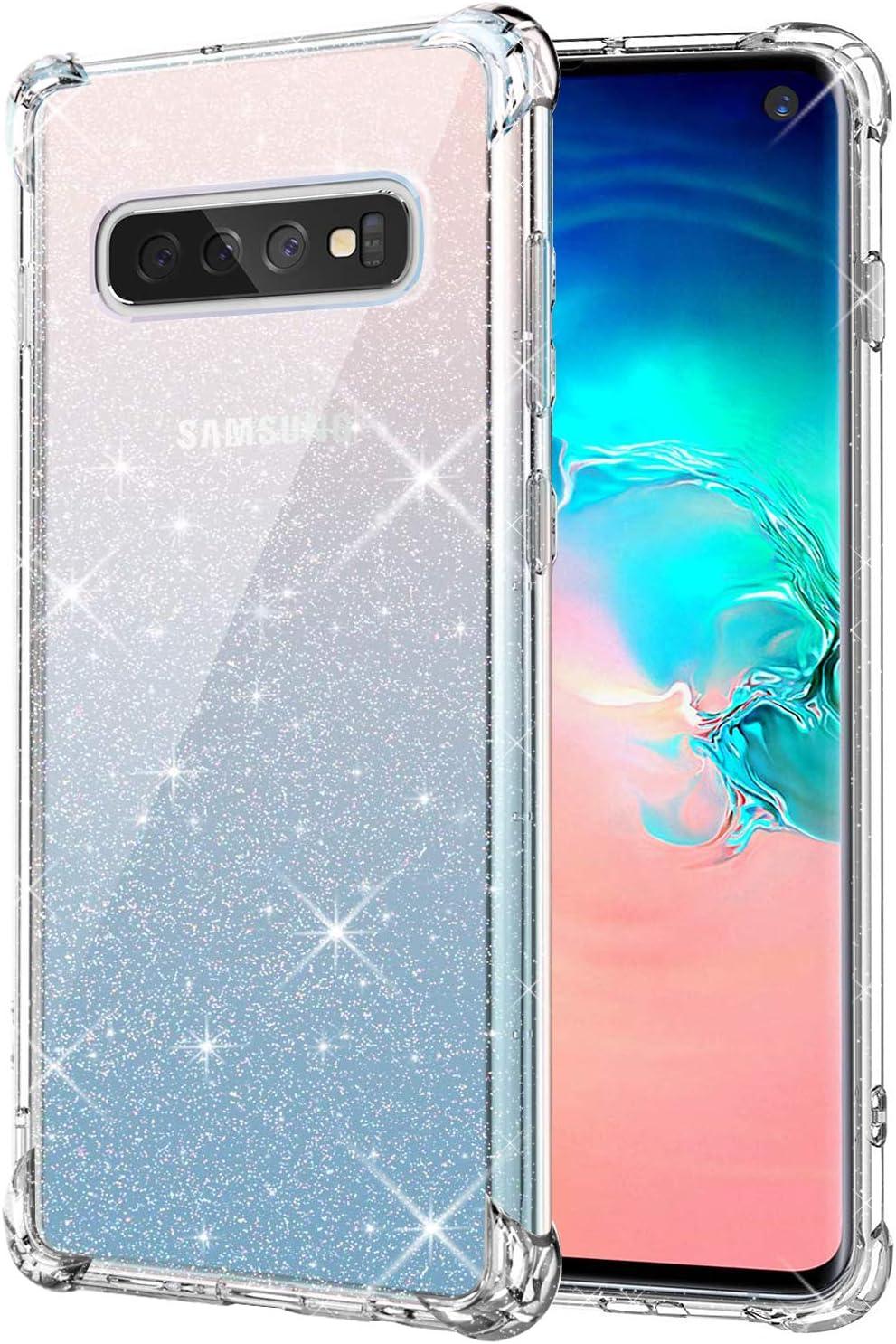 KIOMY Clear Glitter Case for Max 58% OFF Samsung S10 Women Galaxy Bli Max 75% OFF Girls