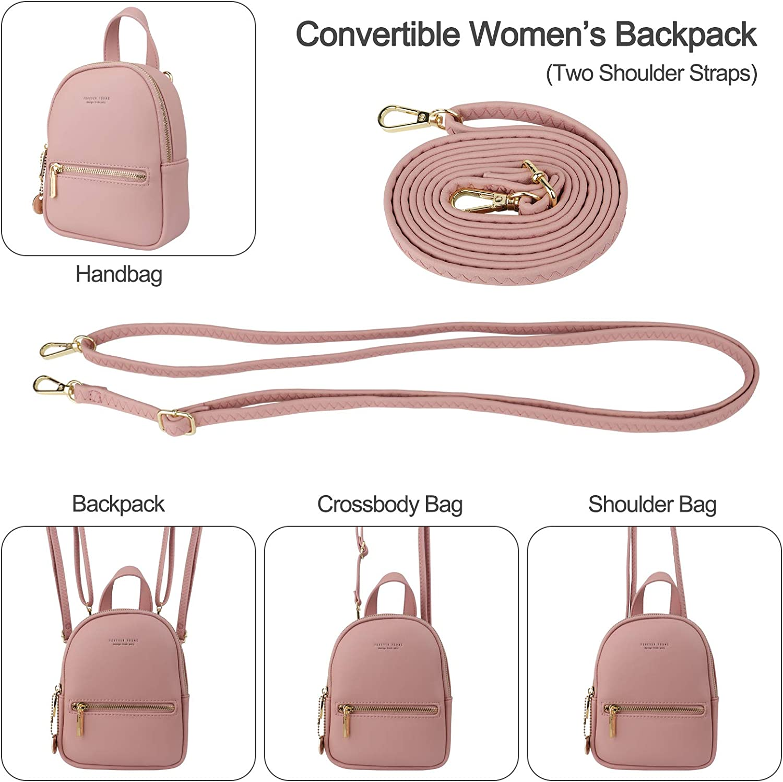 Mini mochila para mujer Aeeque bolso bandolera de cuero