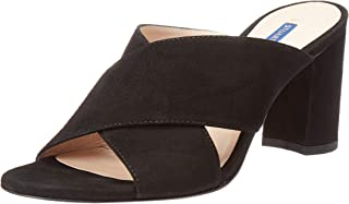 Stuart Weitzman Women's GALENE Sandal, Black Suede, 7 Medium US