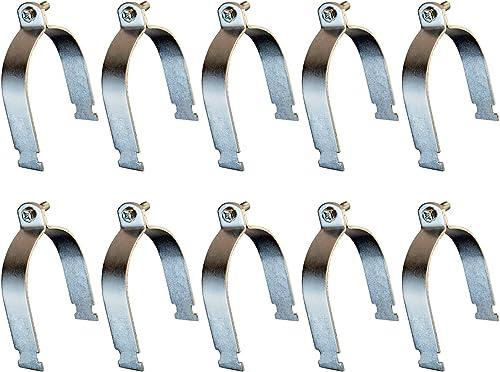 lowest HIGHCRAFT STRTG-34-10 DMTU-HF34-10 Strut Clamp Electro Galvanized Steel, for popular 3/4 in. Pipe online sale (PKG=10), Chrome outlet sale