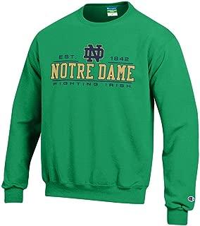 CHAMPION Notre Dame Fighting Irish Adult Powerblend Fleece Crewneck - Green