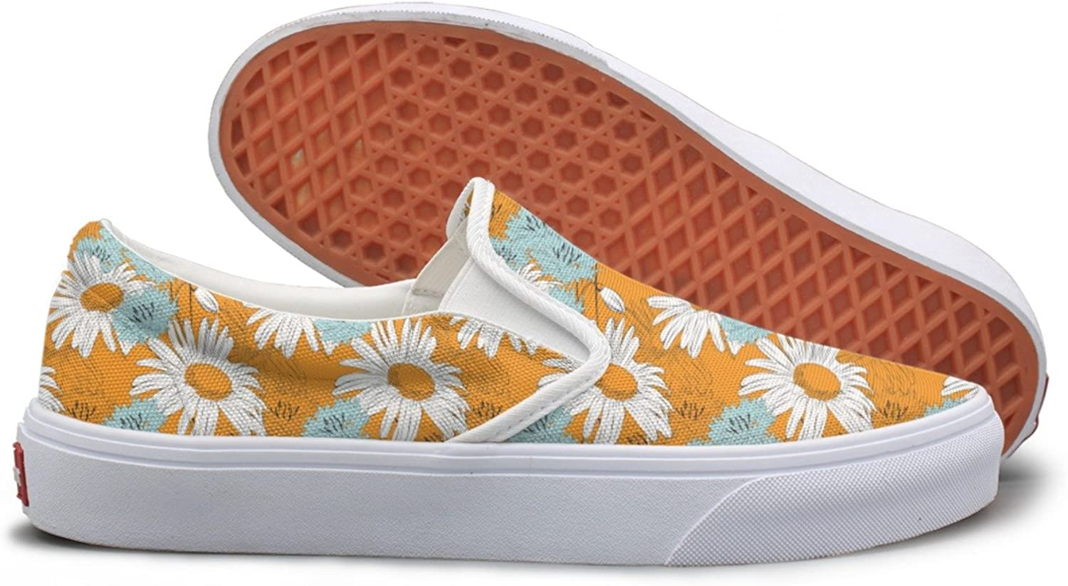SEERTED African Daisy Plant School Sneakers for Girls