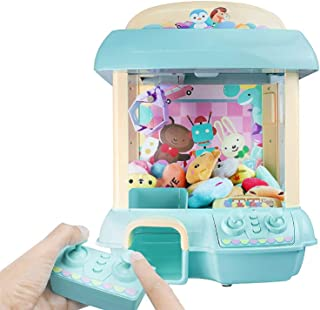 ForBEST Claw Machine Doll Machine with 12 Dolls, Removable Remote Control, USB Cable, Adjustable Sounds and Lights, Best Gift Toy for Kids (Blue)