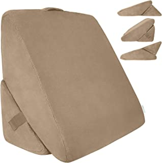 Xtra-Comfort Bed Wedge Pillow – Folding Memory Foam Incline Cushion System for Back..
