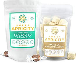 product image for Sea Salted Caramel & Vanilla Marshmallows Combo Pack, Healthy Sweets for Autoimmune Protocol (AIP) Diet, Paleo Snack Marshmallow Treats, 4 oz Caramels and 2 oz Marshmallows - Sweet Apricity