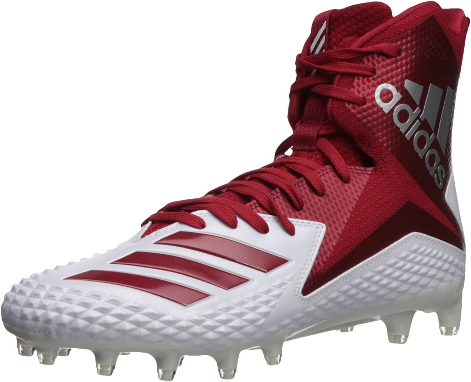 Adidas Men's Freak X Carbon Mid Football shoes, White Power red, 11 M US