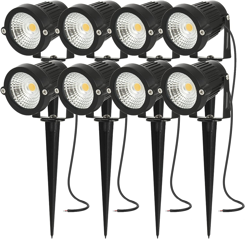 AHSELLUK - Luces LED de paisaje de baja tensión 5 W, 12 V, 24 V, IP66, impermeable, para paredes, banderas, árboles, paisajes al aire libre, focos, iluminación