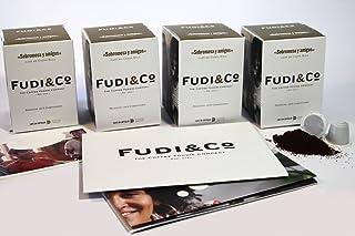 Fudi&Co - SOBREMESA Y AMIGOS - Café de Especialidad de Costa Rica - 4 Paquetes de 10 Cápsulas c/u Compatibles Nespresso ® - 100% Compostable