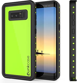 Galaxy Note 8 Waterproof Case, Punkcase [StudStar Series] [Slim Fit] [IP68 Certified] [Shockproof] [Dirtproof] [Snowproof] Armor Cover for Samsung Galaxy Note 8 [Light Green]