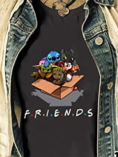 Disney Lilo Stitch Yoda Friends Star War Plus The Mandalorian Festive Force Multipurpose Cover Baby Groot Funny Christmas party Shirt Long Sleeve Sweatshirt Hoodie Sweater Gifts