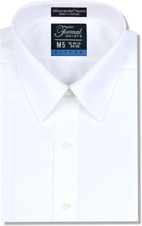 Luxe Microfiber Men's Fitted Dress Shirt, Tuxedo Shirt