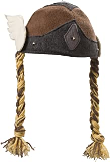 Viking Valkyrie Girl Hat with Braids