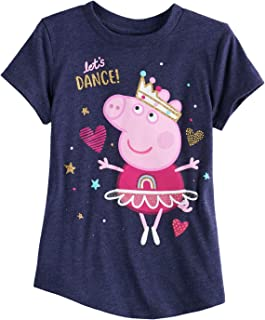 df60f3473c Jumping Beans Girls 4-10 Peppa Pig Let s Dance Tee