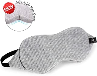 Mavogel Sleeping Mask - Nose Wing Design Sleep Eye Mask Blocking Out Light Perfectly for Travelling/Shift Work/Nap/Women/Men, Blindfold, Breathable Mesh Fiber, Grey