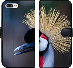 MSD Premium Phone Case Designed for iPhone 7 Plus and iPhone 8 Plus Flip Fabric Wallet Case Image ID: 35822224 Beautiful Crowned Crane with Blue Eye and red Wattle