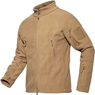 ChangNanJun Men's Full Zip Stand Collar Tactical Fleece Jacket