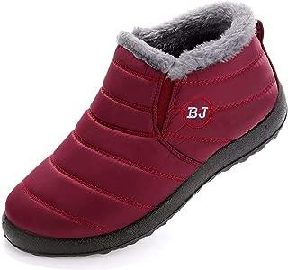 Women Men Winter Slip-on Waterproof Snow Boots Outdoor Anti-Slip Warm Shoes