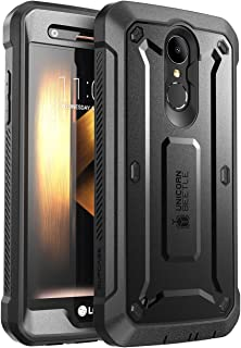 SUPCASE [Unicorn Beetle PRO Series] Full-Body Rugged Holster Case for LG K20 Plus, with Built-in Screen Protector for LG K20 V/LG K20 Plus/LG Harmony/LG LV5/LG K10 2017 (Not Fit LG K10 2016) (Black)