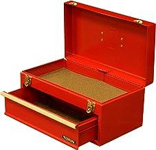 """BIG RED ATB138R Torin - Caja de herramientas portátil de acero de 17"""" con un solo cajón y cierres de doble cierre de metal..."""