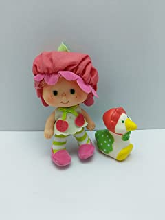 Vintage Cherry Cuddler (1979) (Doll, Hat, Shirt, Tights, & Slipper) - Strawberry Shortcake (Retired) Doll - Collectible Replacement Toy - Loose (OOP Out of Package & Print)