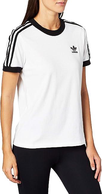 adidas 3 Str tee Camiseta, Mujer, Blanco (White), 48