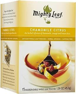 Mighty Leaf Tea Tea Chamomile Citrus, Whole Leaf Pouches, 15 ct