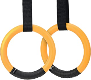 PACEARTH Gymnastic Rings 1100lbs Capacity with 14.76ft Adjustable Buckle Straps Pull Up..